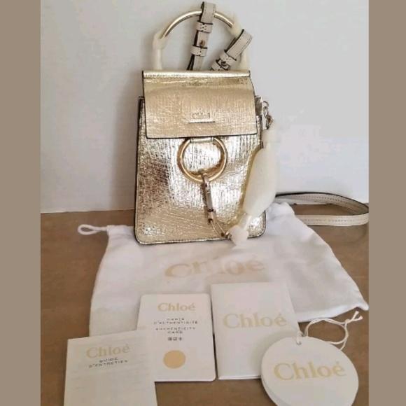 c32873cb9 Chloe Bags | Faye Bracelet Small Shoulder Bag Gold | Poshmark